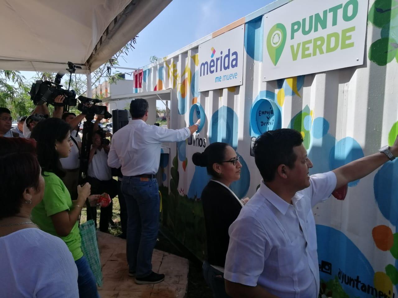 Inauguran nuevo mega punto verde en Mérida