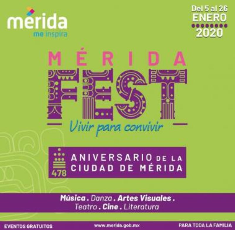 Celebrarán a Mérida con mega fiesta